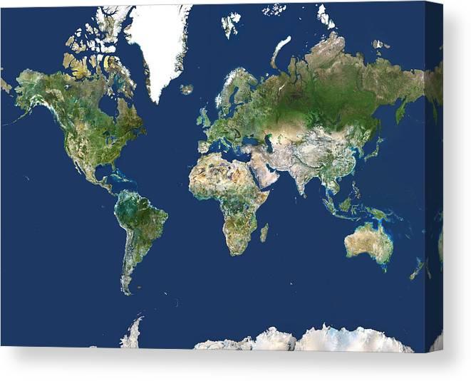 Whole Earth Map Canvas Print