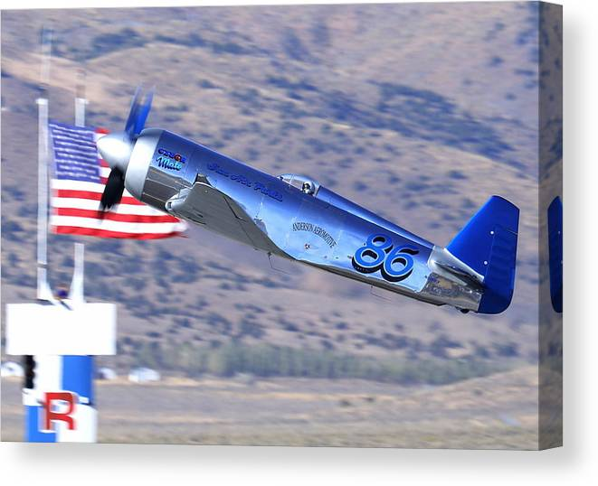 Yak-11 Canvas Print featuring the photograph Yak Attack Sunday's Gold Unlimited Race by John King