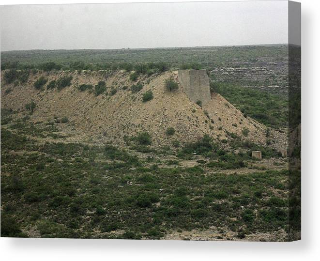 Cliff Canvas Print featuring the photograph Texas Scenic Landscape by James Connor