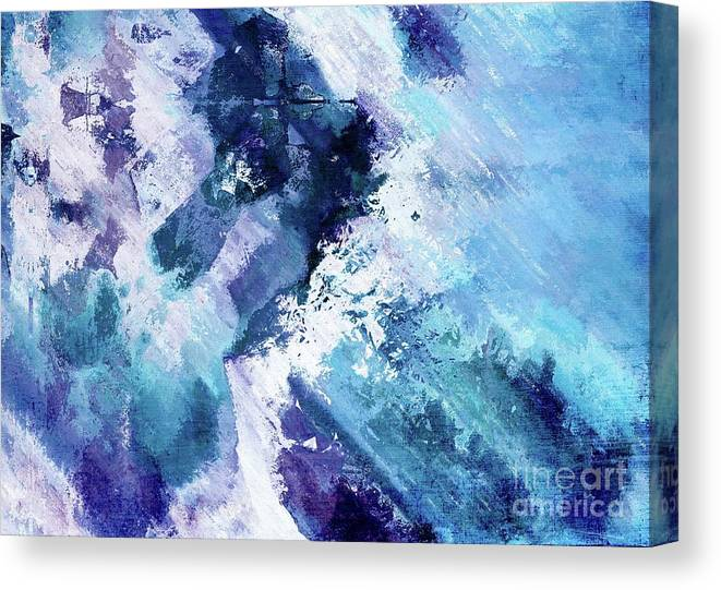 Blue Canvas Print featuring the digital art Abstract Division - 72t02 by Variance Collections