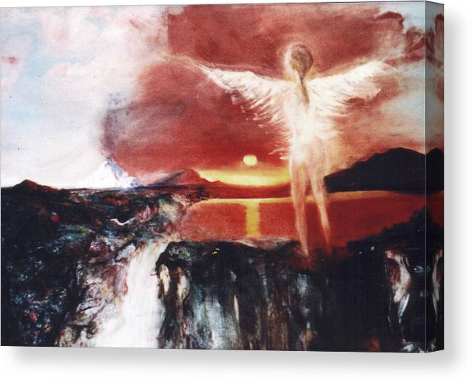 Angel Canvas Print featuring the painting Angel Of The Yucatan by Michela Akers