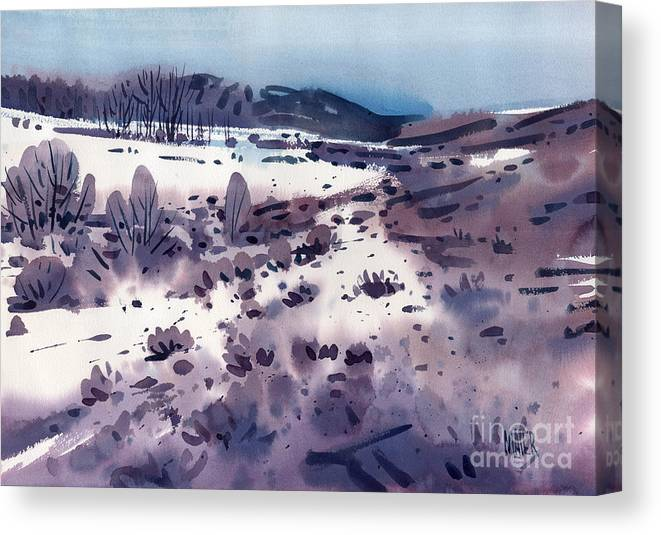 Sierra Foothills Canvas Print featuring the painting Angel's Camp by Donald Maier