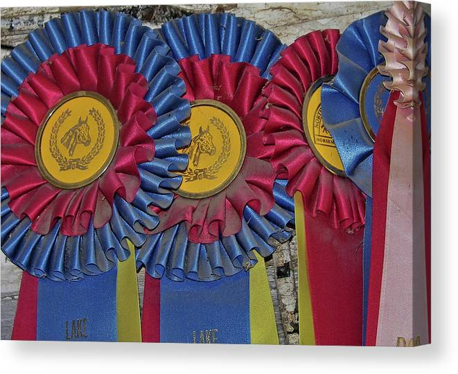 Blue Canvas Print featuring the photograph Blue Ribbons by JAMART Photography