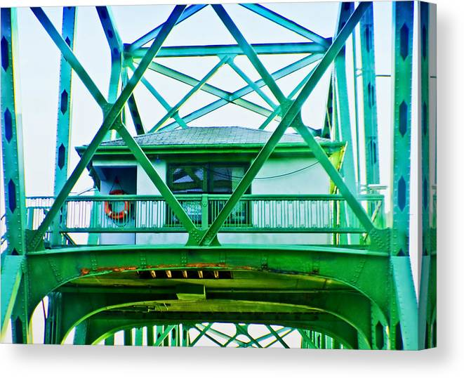 Adria Trail Canvas Print featuring the photograph Bridge House by Adria Trail