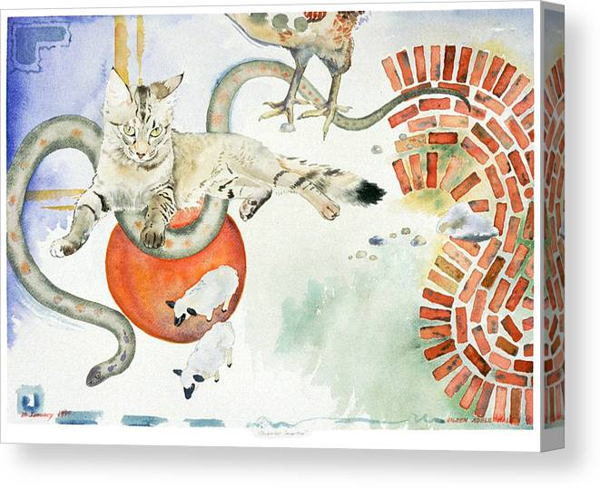 Surreal Canvas Print featuring the painting Chickenfoot Serpentine by Eileen Hale