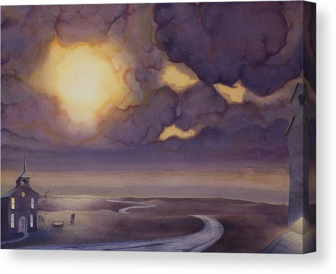 Great Plains Art Canvas Print featuring the painting Cloud Break On The Northern Plains II by Scott Kirby