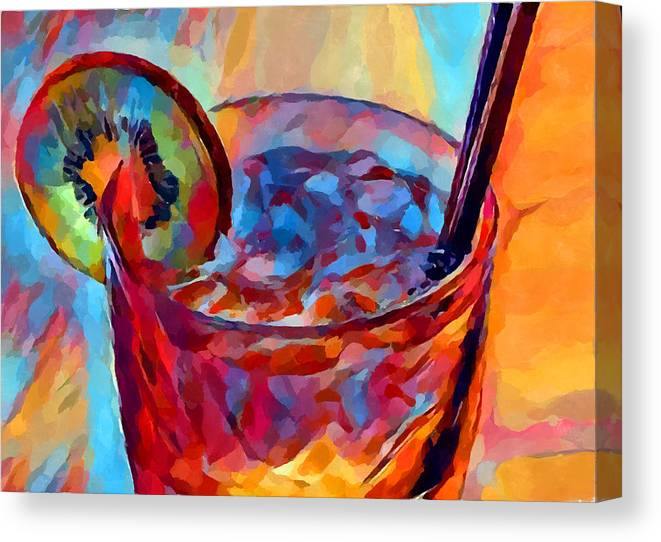 Cocktail Canvas Print featuring the painting Cocktail Watercolor by Chris Butler