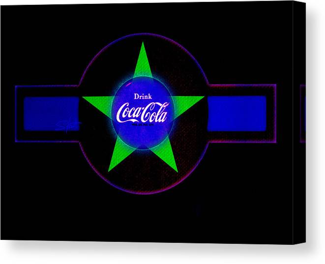Label Canvas Print featuring the painting Cola N Lime II by Charles Stuart