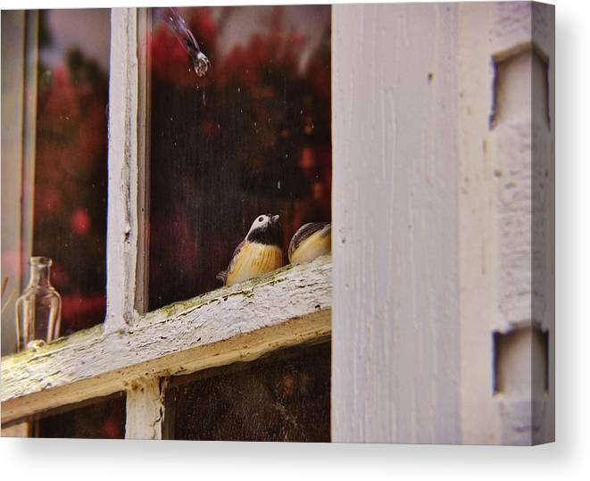 Window Canvas Print featuring the photograph Collectibles by JAMART Photography