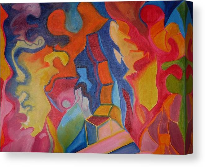 Canvas Print featuring the painting Colors by Joseph Arico
