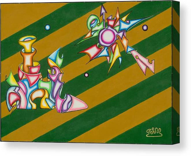 Fantasy Canvas Print featuring the painting Cosmic Steamship by      Gillustrator