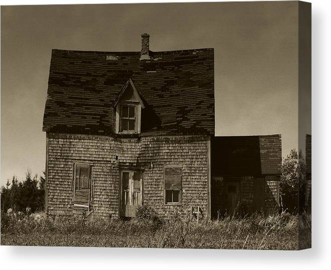 Old House Canvas Print featuring the photograph Dark Day On Lonely Street by RC DeWinter