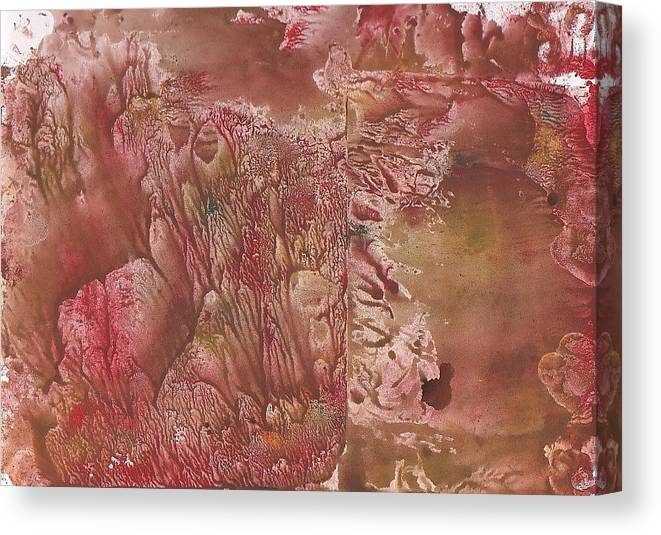 Decalcomanie Canvas Print featuring the painting Decalcomanie 1 by Michael Puya