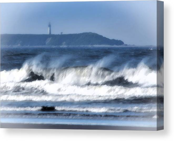 Landscape Canvas Print featuring the photograph Destruction Island by Barbara Matthews