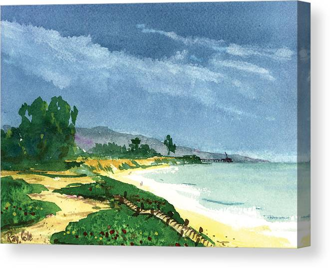 Steps To The Beach Canvas Print featuring the painting Down To The Beach by Ray Cole