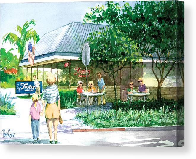 Fosters Freeze Canvas Print featuring the painting Fosters Freeze Again by Ray Cole