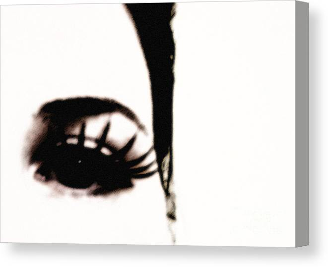 Eye Canvas Print featuring the photograph Hello by Amanda Barcon