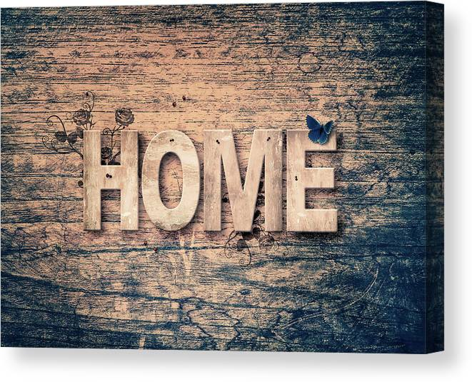Home Canvas Print featuring the mixed media Home by Pixabay