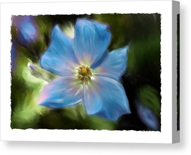Flower Canvas Print featuring the photograph Impatient by Sandy Belk
