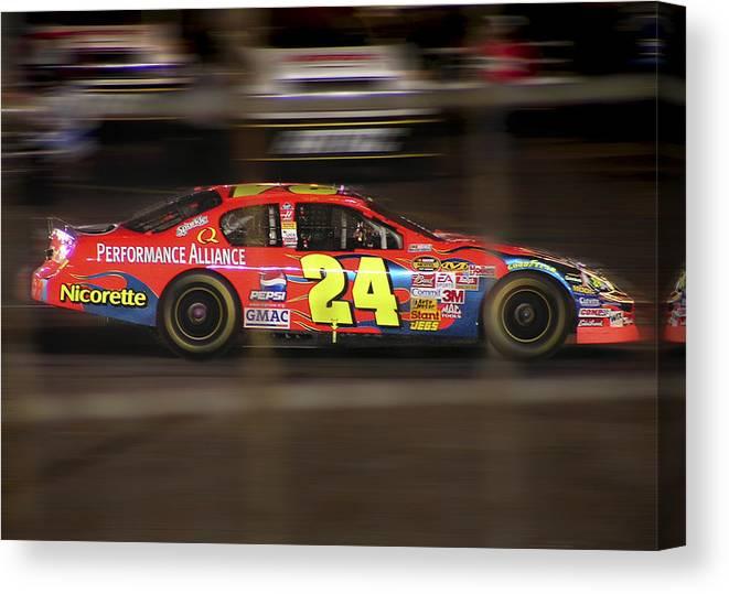 Jeff Gordon Canvas Print featuring the photograph Jeff Gordons Cup Car by Kenneth Krolikowski