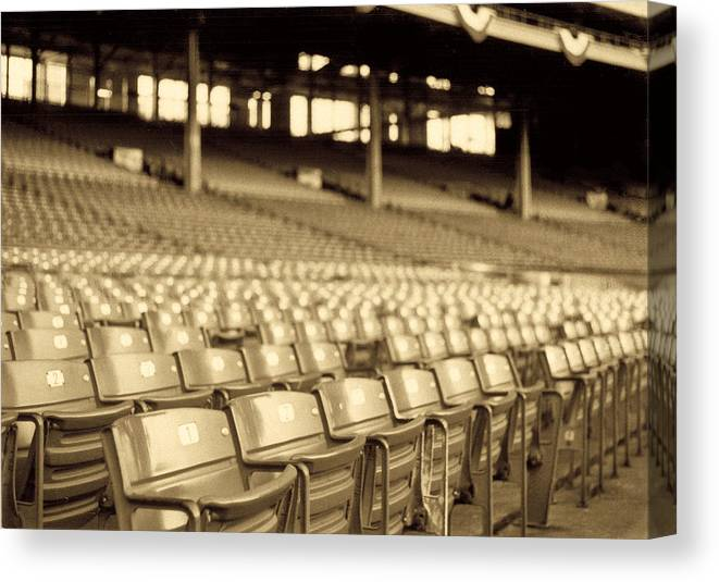 Cleveland Canvas Print featuring the photograph No Games Left To See by Kenneth Krolikowski