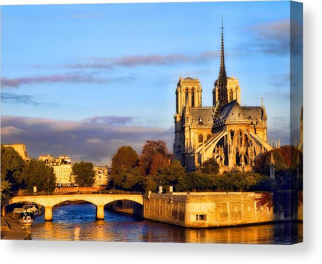 Notre Dame Canvas Print featuring the photograph Notre Dame by Mick Burkey