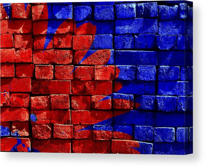 Wall Canvas Print featuring the photograph Painted Wall by Carlene Smith