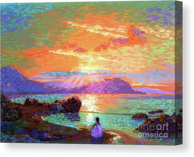 Sun Canvas Print featuring the painting Peace Be Still Meditation by Jane Small