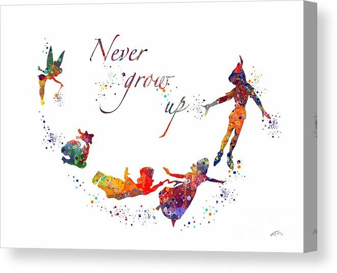 Peter Pan Quote Canvas Print