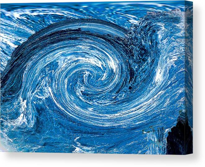 River Canvas Print featuring the photograph Raging River by DigiArt Diaries by Vicky B Fuller