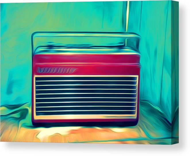 Radio Canvas Print featuring the digital art Retro Radio by Dante and Sierra Gazzaniga