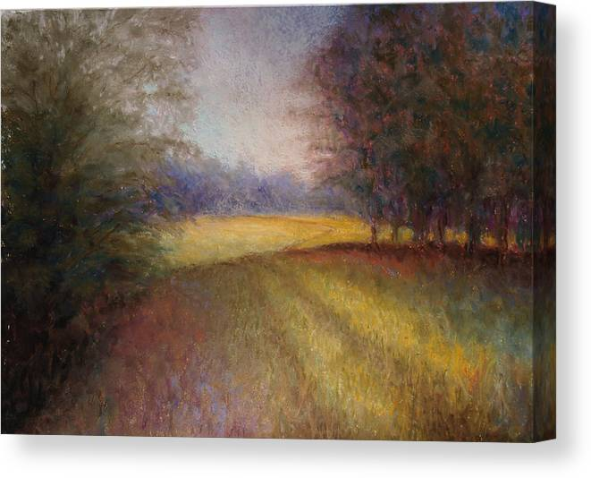 Lanscape Canvas Print featuring the painting Romance Trail by Susan Jenkins