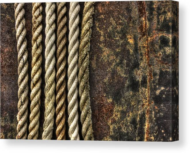 Rope Canvas Print featuring the photograph Ropes by Evelina Kremsdorf