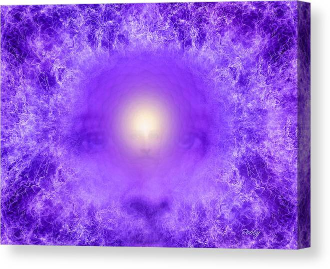 Saint Germain Canvas Print featuring the painting Saint Germain And The Violet Flame by Robby Donaghey