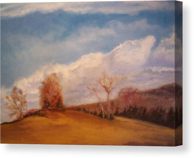 Nature Canvas Print featuring the painting Shakertown 1 by Karen Thompson