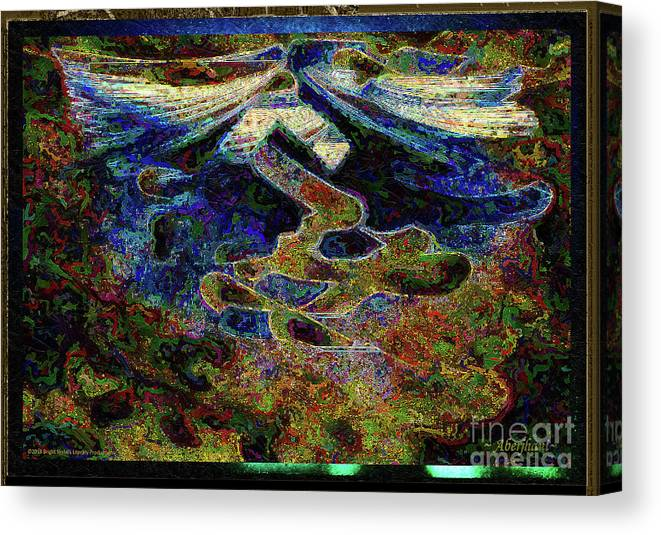 Chromatic Poetics Canvas Print featuring the digital art Song Of Love And Compassion by Aberjhani