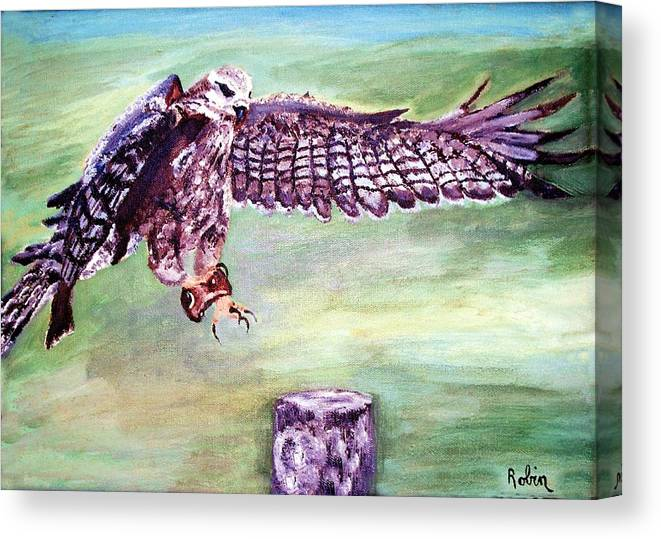 Osprey Canvas Print featuring the painting Spread Your Wings by Robin Monroe