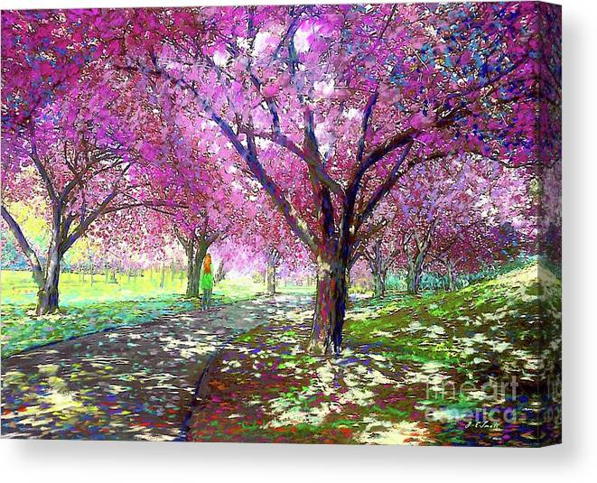 Sun Canvas Print featuring the painting Cherry Blossom by Jane Small