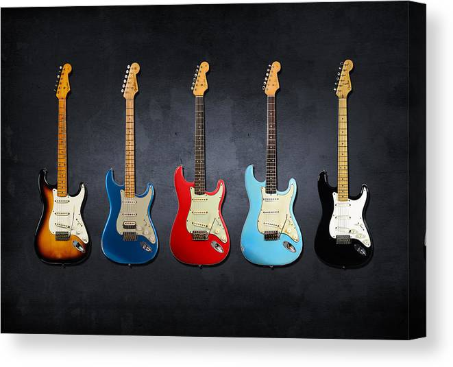 Fender Stratocaster Canvas Print featuring the photograph Stratocaster by Mark Rogan