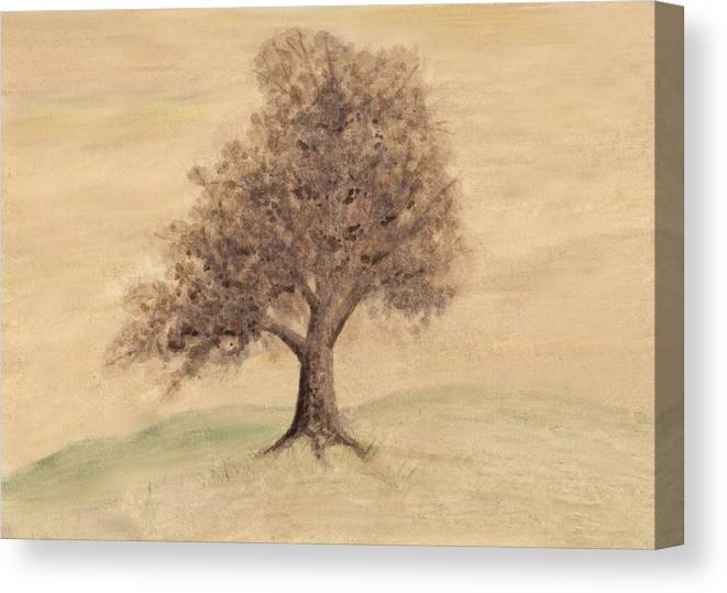 Tree Canvas Print featuring the painting Tea And Coffee Tree Wide by Chris Hall