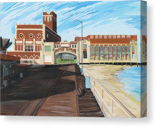 Asbury Art Canvas Print featuring the painting The Convention Hall Asbury Park by Patricia Arroyo