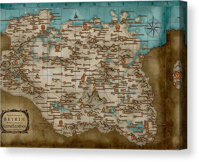 The Elder Scrolls Canvas Print