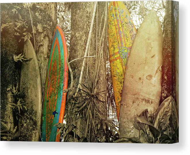Surfboard Canvas Print featuring the photograph The Road To Hana by JAMART Photography