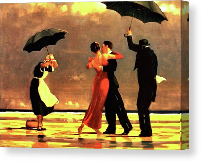 73e8266cab4 Jack Vettriano Canvas Print featuring the painting The Singing Butler by  Jack Vettriano