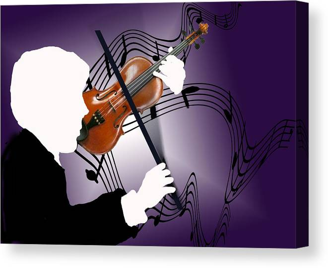 Violin Canvas Print featuring the digital art The Soloist by Steve Karol
