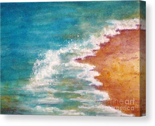 Seascape Canvas Print featuring the painting Tide Rushing In by Suzanne Krueger