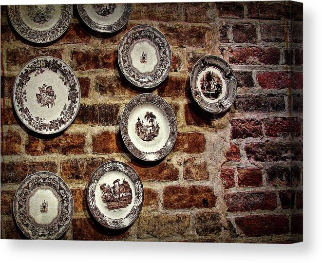 Tiole Canvas Print featuring the photograph Tiole Plates by JAMART Photography
