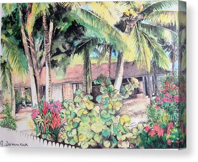 Landscape Canvas Print featuring the painting Union by Muriel Dolemieux