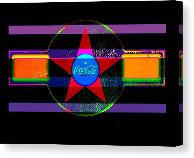 Label Canvas Print featuring the painting Venetion Neon by Charles Stuart