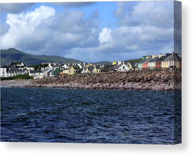 Ireland Canvas Print featuring the photograph Irish Seaside Village, Co Kerry by Aidan Moran